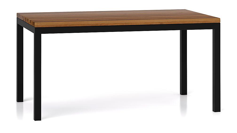 Parsons Reclaimed Wood Top/ Dark Steel Base 60x36 Dining Table