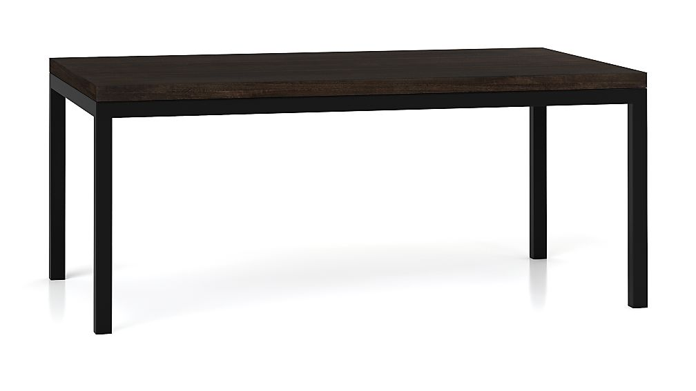 Parsons Myrtle Top/ Dark Steel Base 72x42 Dining Table
