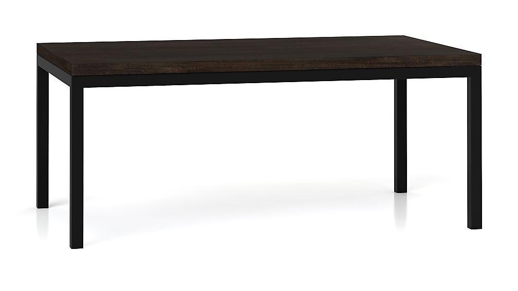 Parsons Myrtle Top/ Dark Steel Base 72x42 Dining Table
