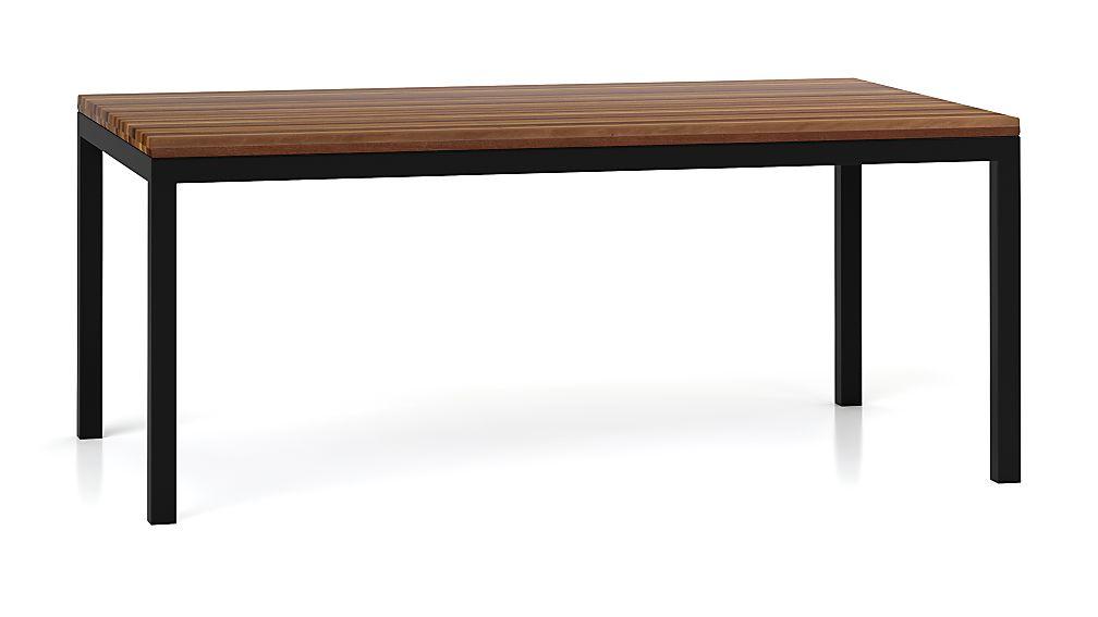 Parsons Reclaimed Wood Top/ Dark Steel Base 72x42 Dining Table