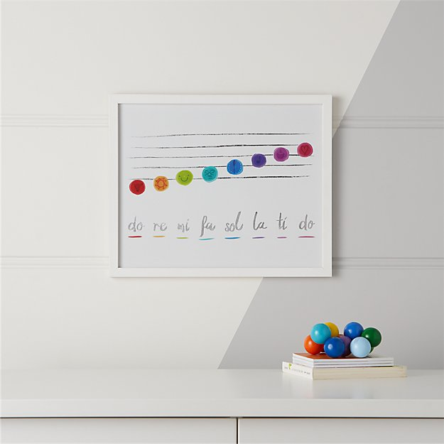 Do Re Me Framed Wall Art + Reviews | Crate and Barrel