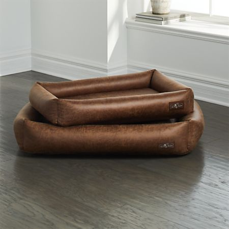 Swell Cuddler Faux Leather Vintage Dog Beds Crate And Barrel Cjindustries Chair Design For Home Cjindustriesco