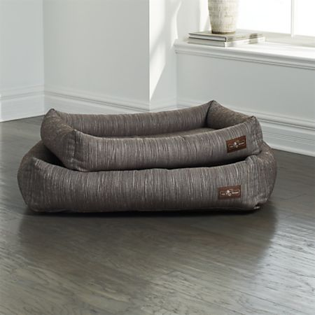 Cuddler Silhouette Latte Dog Beds Crate And Barrel