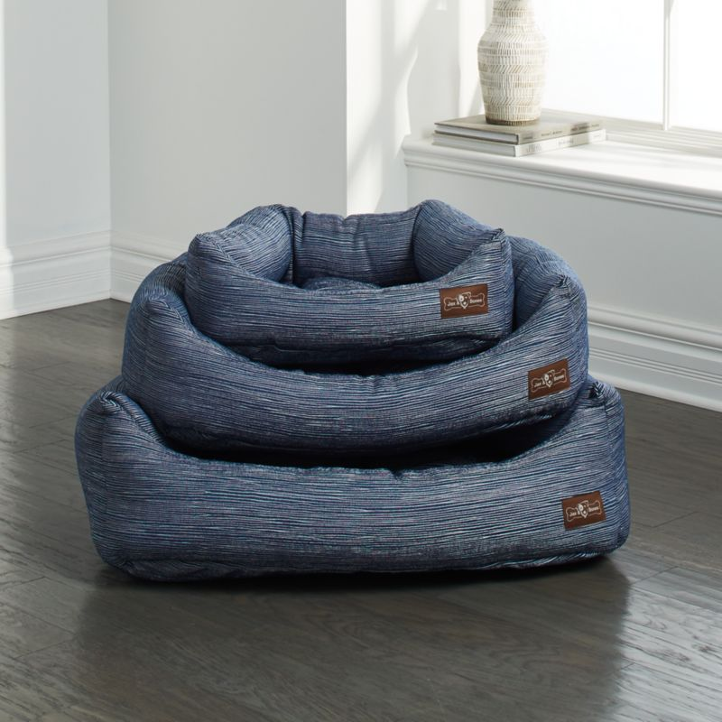 Napper Silhouette Indigo Dog Beds Crate And Barrel