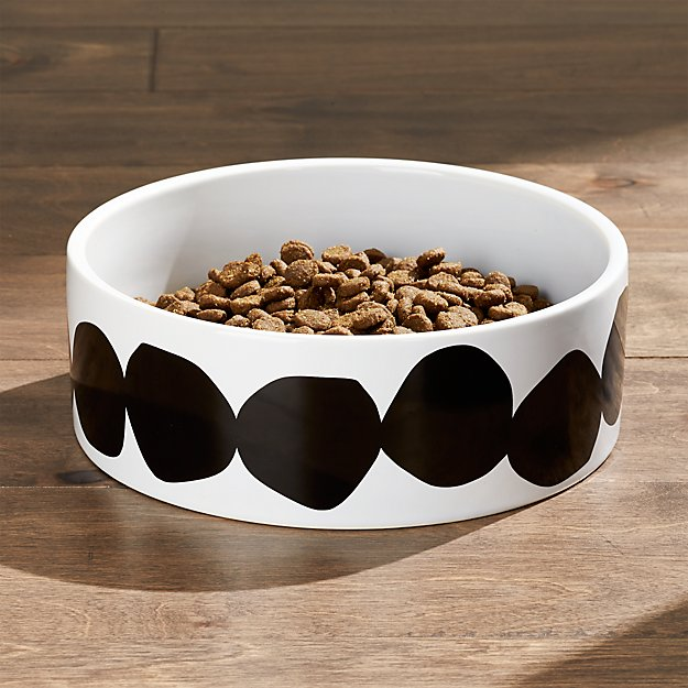 Large black dots dog bowl reviews crate and barrel for Crate and barrel dog