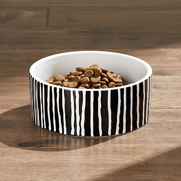 Small Black Stripes Dog Bowl