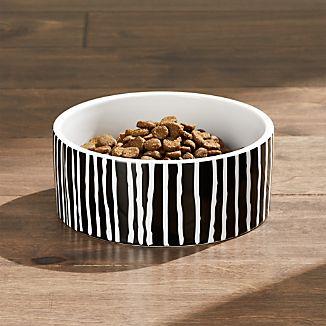Small Black Stripes Dog Bowl