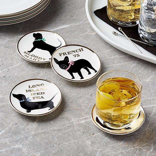 Dog Drink Coasters, Set of 4