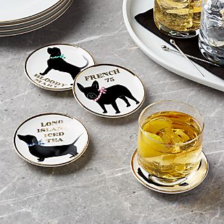 Dog Drink Coasters, Set of 4