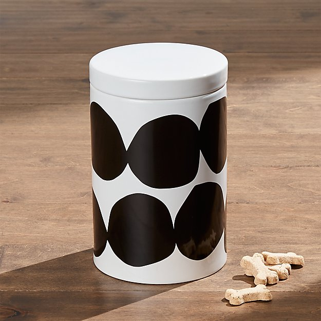 Large black dots dog treat jar reviews crate and barrel for Crate and barrel dog
