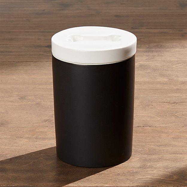 Matte Black Dog Treat Jar