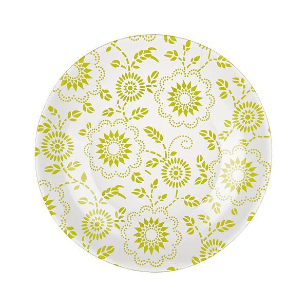 Dollie Green Dessert Plate