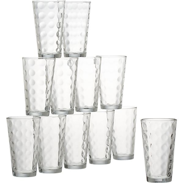 Domino Glass Tumblers Set of 12