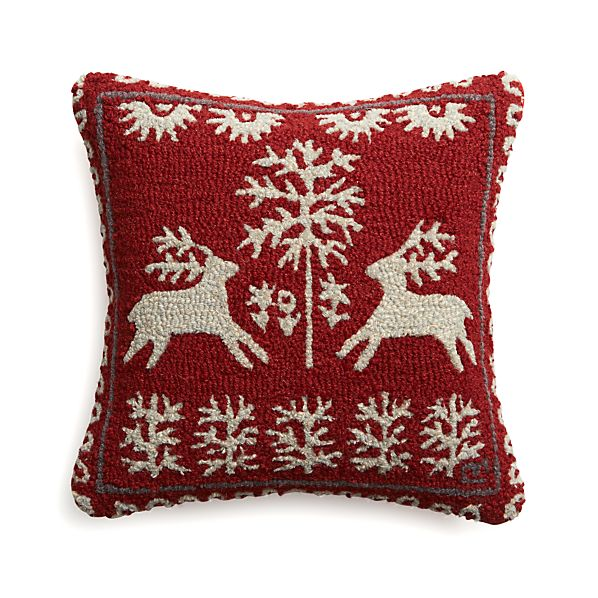"Donner 18"" Pillow with Feather-Down Insert"