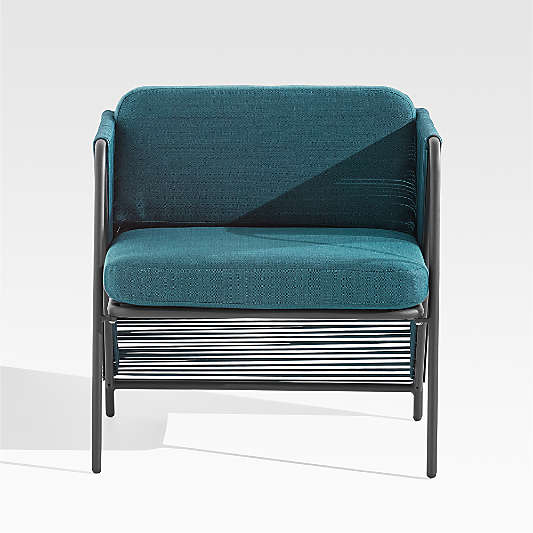 Dorado Teal Small Space Outdoor Lounge Chair