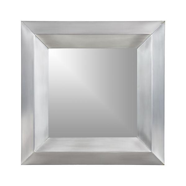 Dorado Nickel Square Wall Mirror