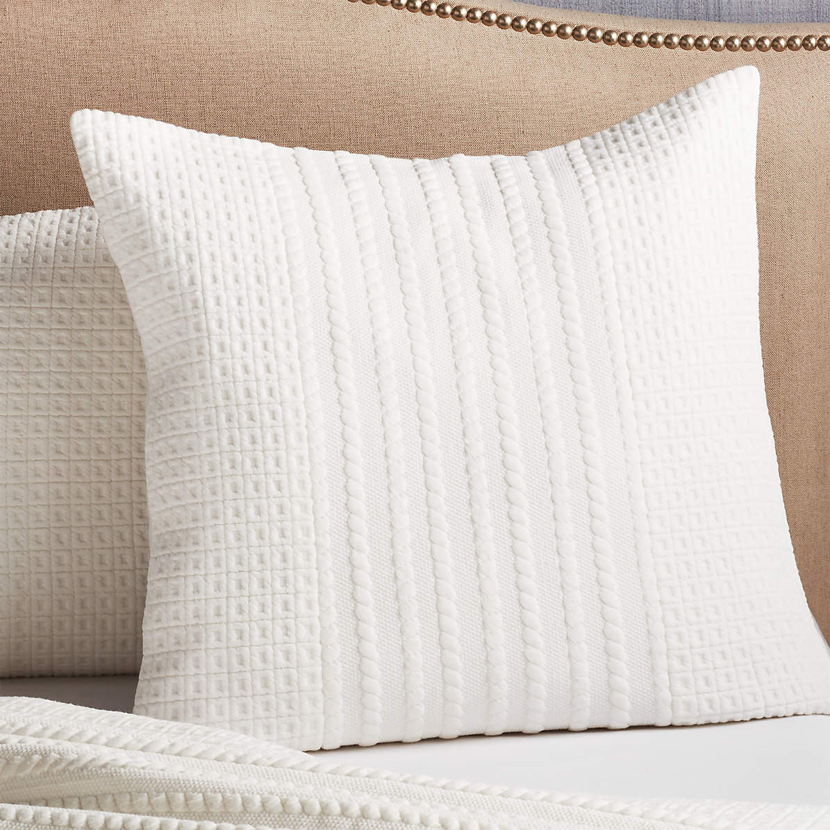 Doret White Jersey Euro Sham Reviews Crate And Barrel