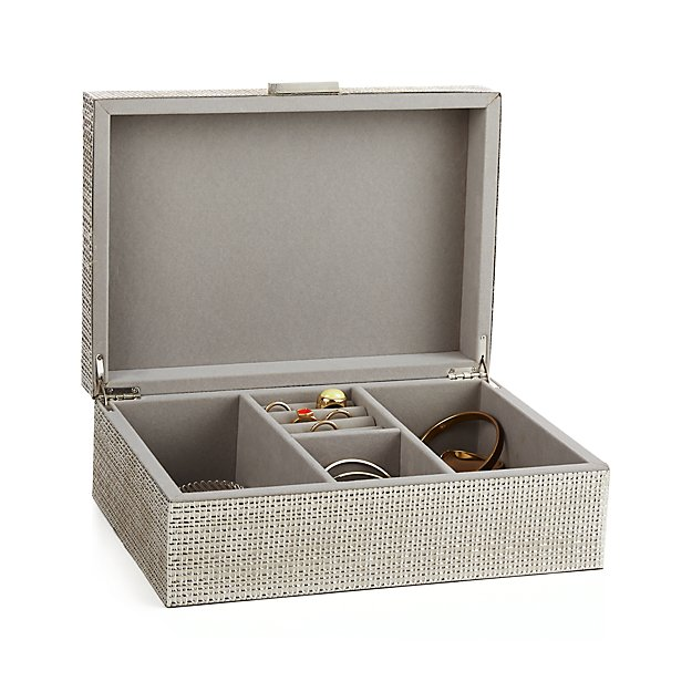Dory Silver Jewelry Box Reviews Crate And Barrel
