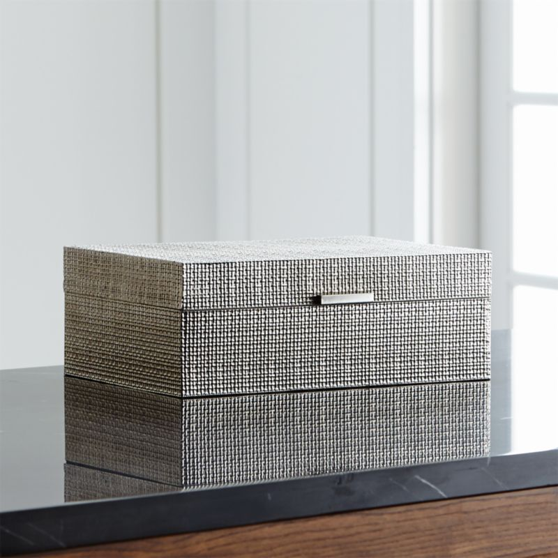 Dory Silver Jewelry Box in Home Accents + Reviews | Crate and Barrel