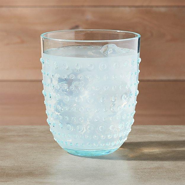 Dottie Aqua Acrylic Drink Glass