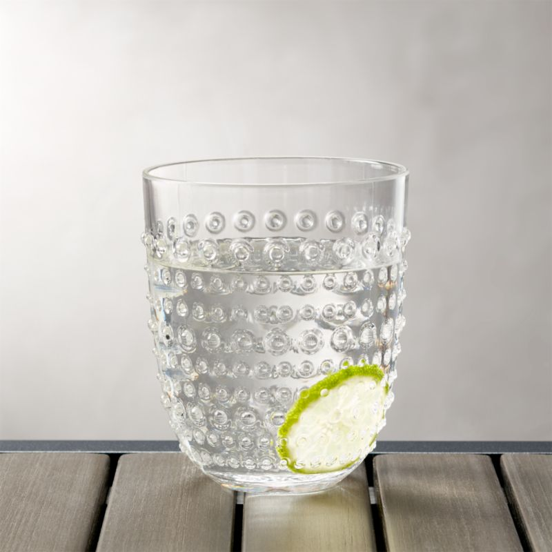 & Dottie Clear Acrylic 17 oz. Drink Glass + Reviews | Crate and Barrel