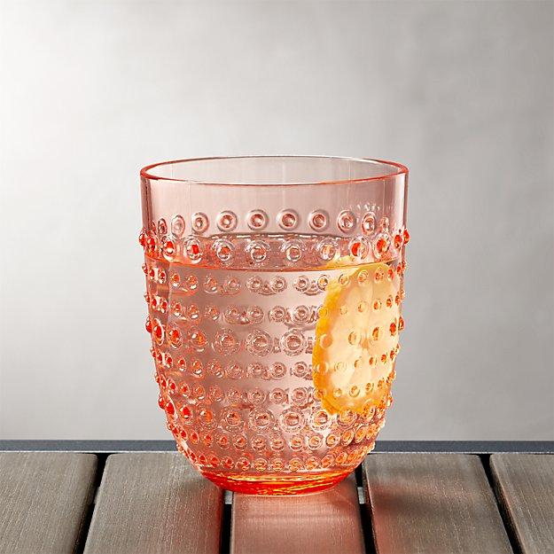 Dottie Orange Acrylic 17 oz. Drink Glass