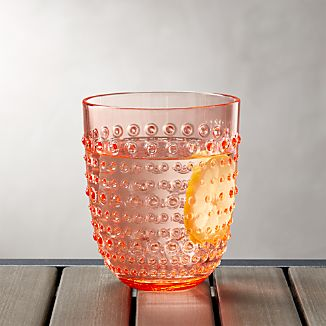 Dottie Orange Acrylic 17 oz. Drink Glass