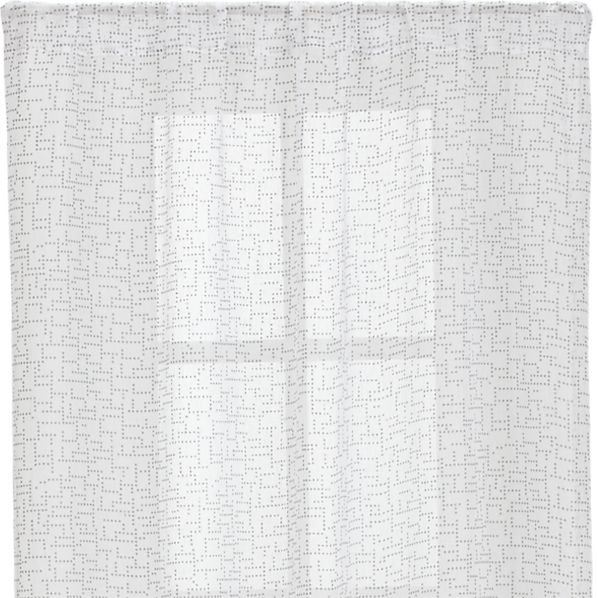 Dottie Silver Sheer 48x108 Curtain Panel