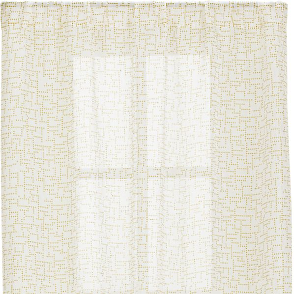 Dottie Yellow Sheer 48x96 Curtain Panel