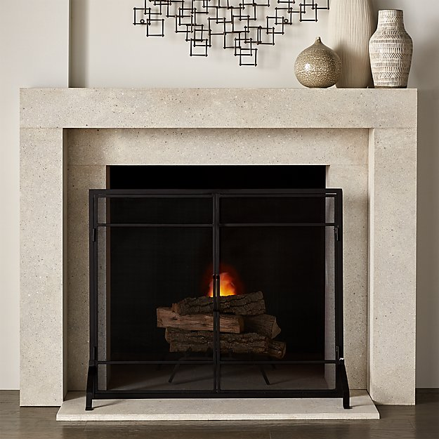 Beau Fireplace Screen with Doors - Image 1 of 6