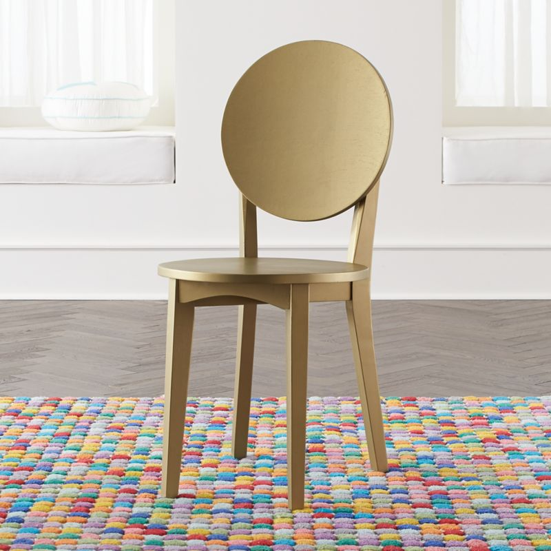 Double Dot Gold Kids Desk Chair Crate And Barrel