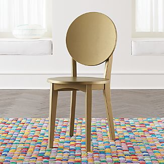 Double Dot Gold Kids Desk Chair & Gold Kids Chairs | Crate and Barrel