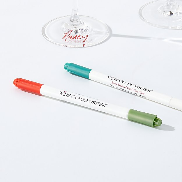 Double-Sided Wine Glass Writers, Set of 2 - Image 1 of 2