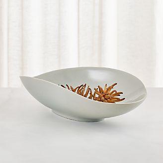 Dove Grey Oblong Centerpiece Bowl