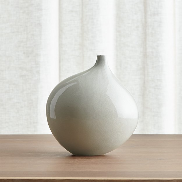 Dove Grey Small Vase Reviews Crate And Barrel