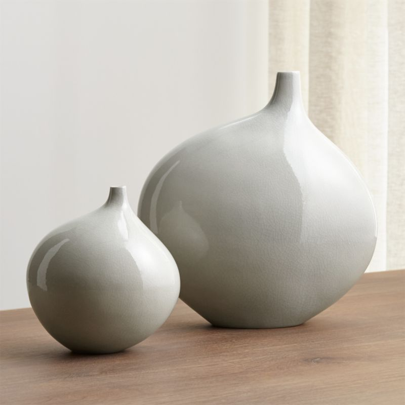 Dove Grey Vases Crate And Barrel