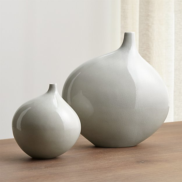 Dove Grey Vases Crate And Barrel