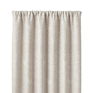 "Dover Cream/Taupe 50""x84"" Curtain Panel"