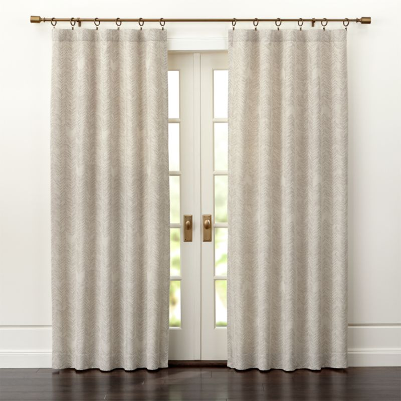 Dover Cream Taupe Curtain Panels Crate And Barrel