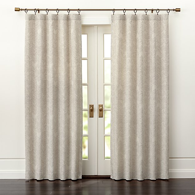 Dover Cream/Taupe Curtain Panels - Dover Cream/Taupe Curtain Panels Crate And Barrel