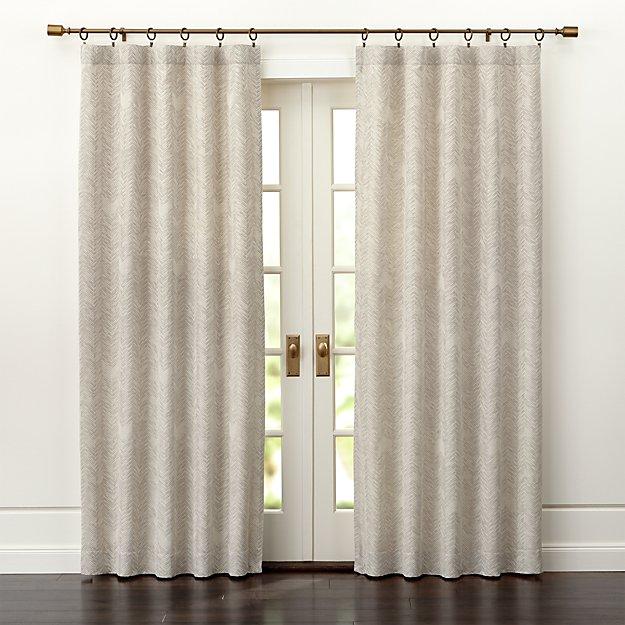 Dover Cream/Taupe Curtain Panels