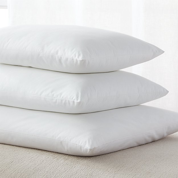 Down alternative rectangular pillow inserts crate and barrel for Best down pillow inserts