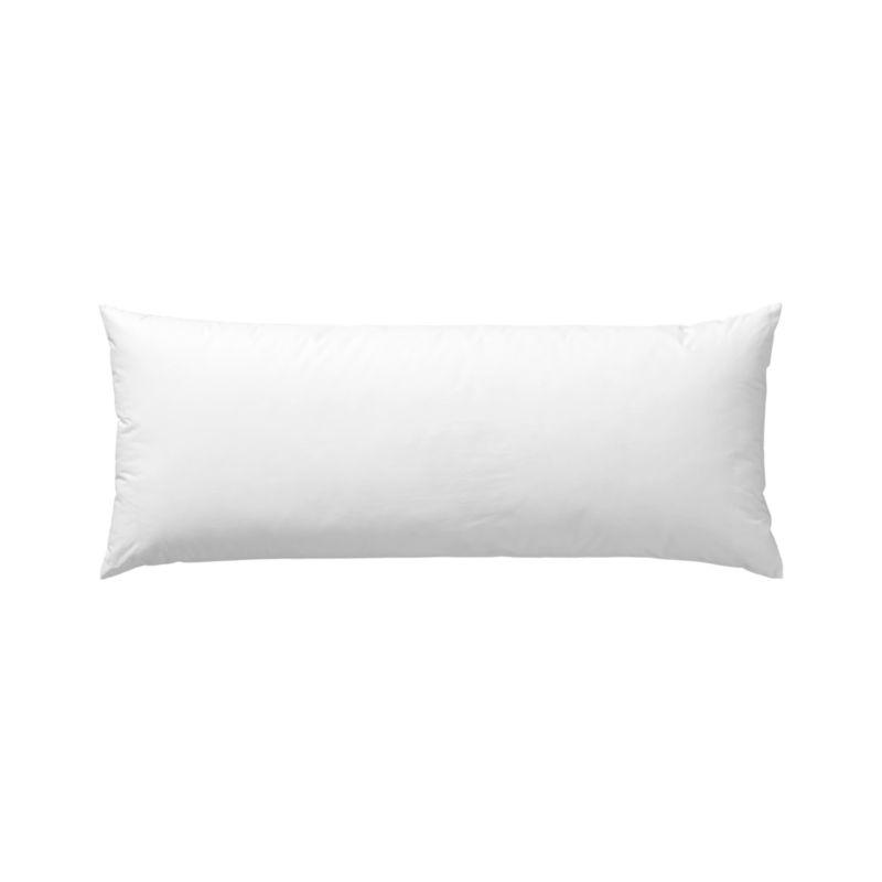 Lofty polyester fiberfill cuddles just like feather down as a soft and sumptuous hypoallergenic alternative. Bed pillows also available.<br /><br /><NEWTAG/><ul><li>100% polyester fill</li><li>100% cotton shell</li><li>24 oz. fill</li><li>Machine wash, tumble dry low</li><li>Do not dry clean</li><li>Made in China</li></ul>