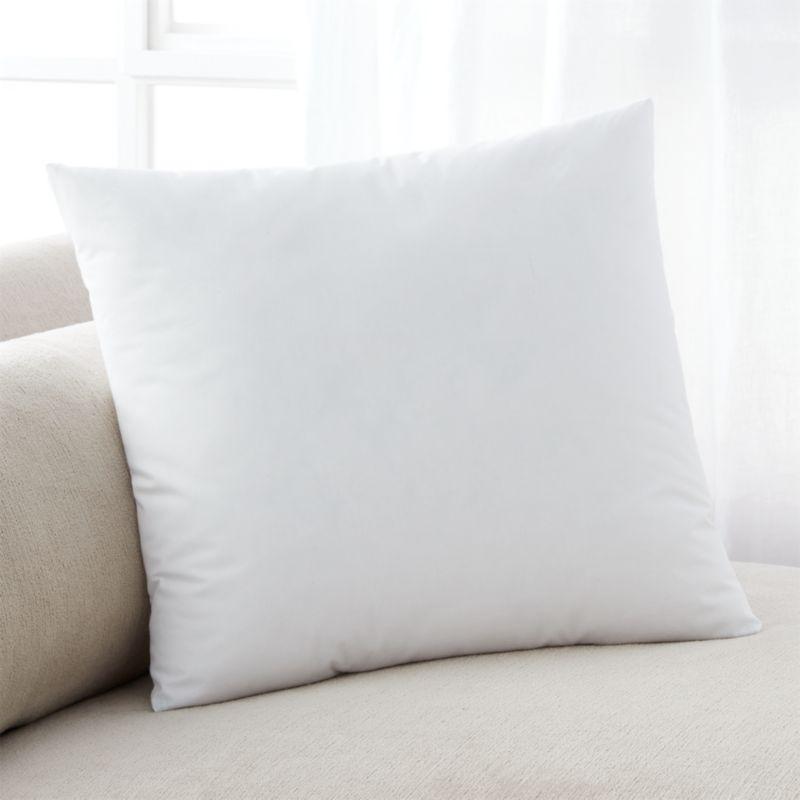 Lofty polyester fiberfill cuddles just like feather down as a soft and sumptuous hypoallergenic alternative. Bed pillows also available.<br /><br /><NEWTAG/><ul><li>100% polyester fill</li><li>100% cotton shell</li><li>23.5 oz. fill</li><li>Machine wash, tumble dry low</li><li>For best results, professional laundering is recommended</li><li>Made in China</li></ul>