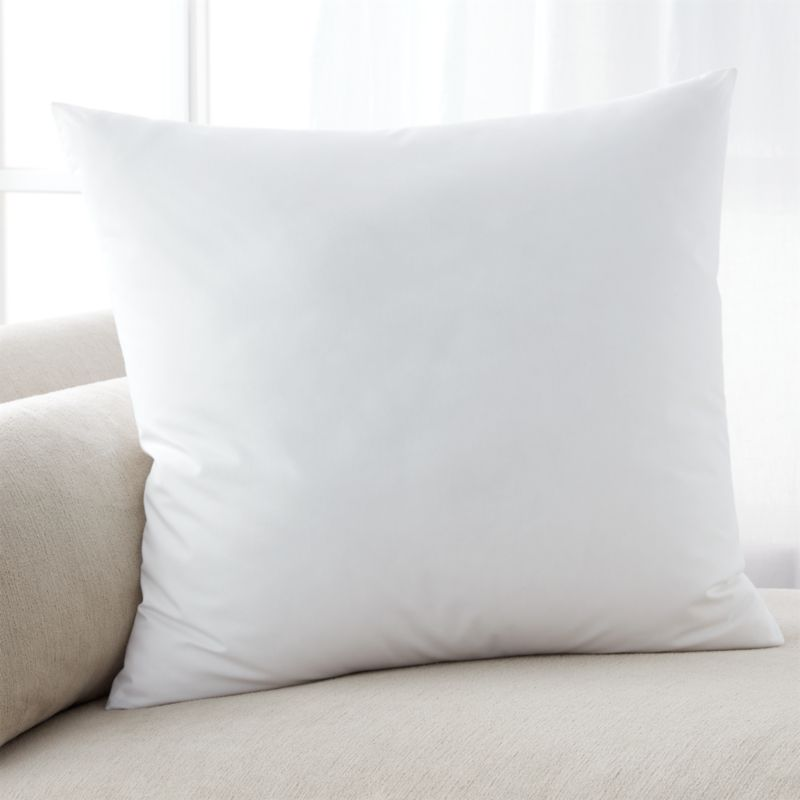 Lofty polyester fiberfill cuddles just like feather down as a soft and sumptuous hypoallergenic alternative. Bed pillows also available.<br /><br /><NEWTAG/><ul><li>100% polyester fill</li><li>100% cotton shell</li><li>39 oz. fill</li><li>Machine wash, tumble dry low</li><li>For best results, professional laundering is recommended</li><li>Made in China</li></ul>