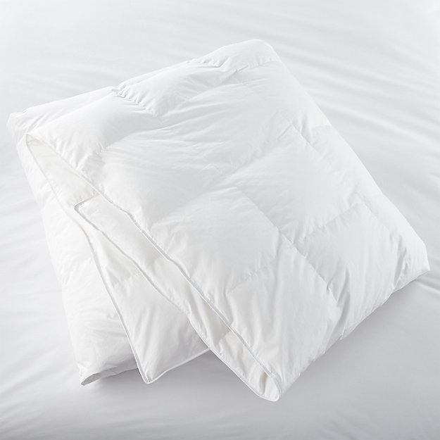 Classic down king duvet insert crate and barrel for Crate barrel comforter