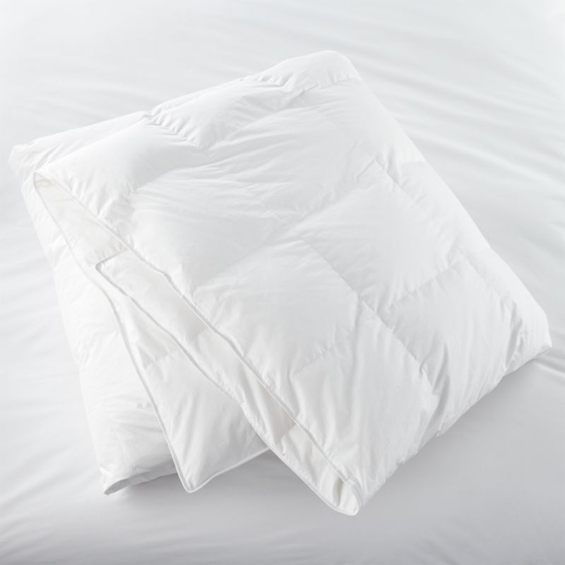 "We've handpicked this bedding essential for its quality and versatility. Medium-weight, all-season duvet insert features 10"" baffle block construction for maximum loft and minimum shifting of the down. Premium snow-white domestic down is encased in a 230-thread-count cambric cotton shell. Shell is down- and feather-proof, preshrunk, and finished with double-needle stitching and cotton cording. Down alternative duvet insert also available.<br /><br /><NEWTAG/><ul><li>100% cambric cotton shell (230-thread-count)</li><li>600-fill-power</li><li>Superior quality snow-white domestic down, 29 oz.</li><li>10"" baffle box construction</li><li>Sized to fit our duvet covers</li><li>Machine wash in warm water, like colors, no bleach</li><li>Tumble dry, medium heat until thoroughly dry</li><li>For best results, professional laundering is recommended</li><li>Do not dry clean</li><li>Made in USA and China of domestic and imported materials</li></ul>"