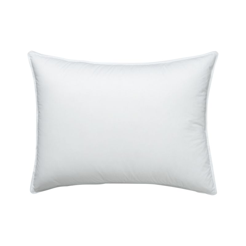 Standard Decorative Pillow Measurements : Feather-Down Standard Pillow in Bedding Essentials + Reviews Crate and Barrel