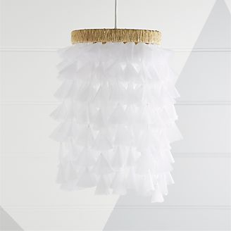 Kids ceiling wall lights pendants more crate and barrel dreamy fabric chandelier aloadofball Gallery