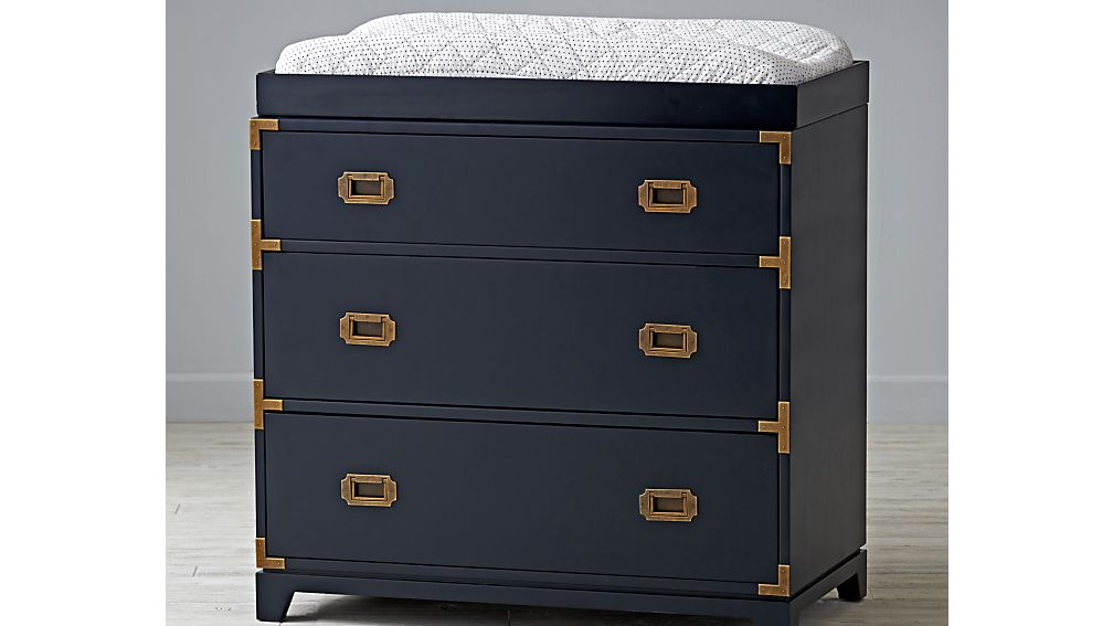 Kids Navy Campaign 3 Drawer Dresser Crate And Barrel